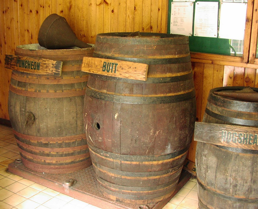 View of a barrel sized as a butt.
