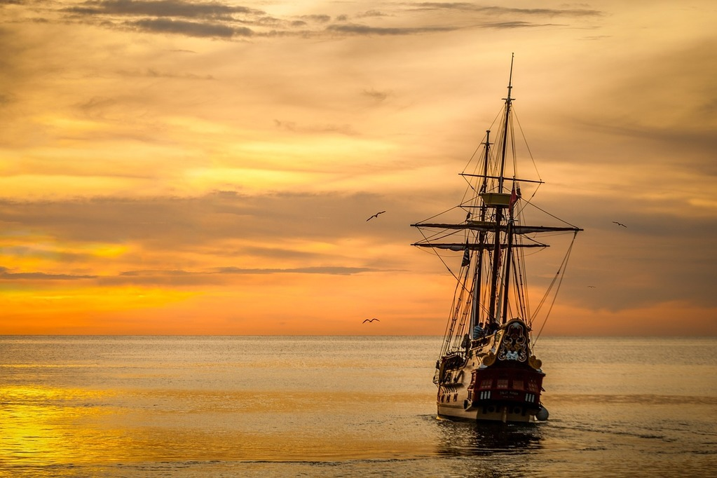 View of a ship to illustrate nautical superstitions.