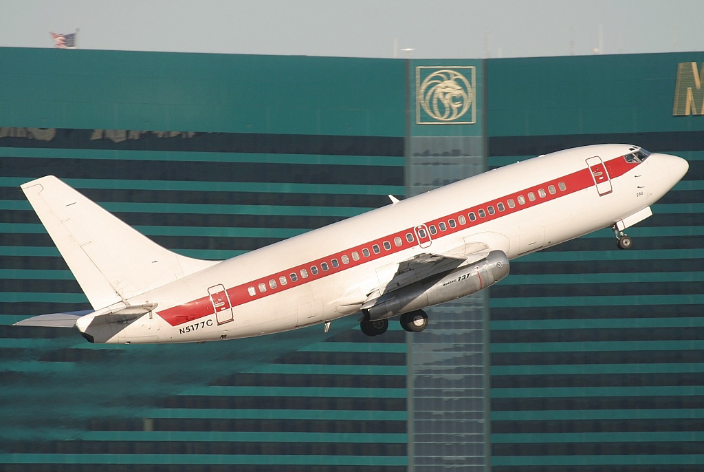"""""""Janet Airlines"""" flying out of McCarren International Airport in Las Vegas."""