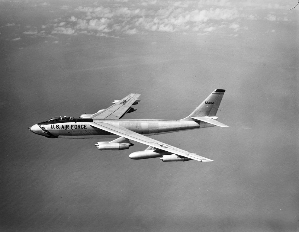 B-47 bomber, the same airplane that dropped a nuclear bomb into the water off the coast of Georgia.