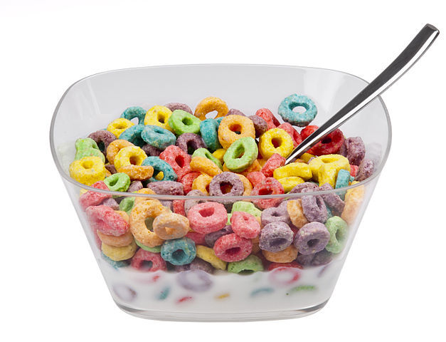 Froot Loops Cereal Bowl