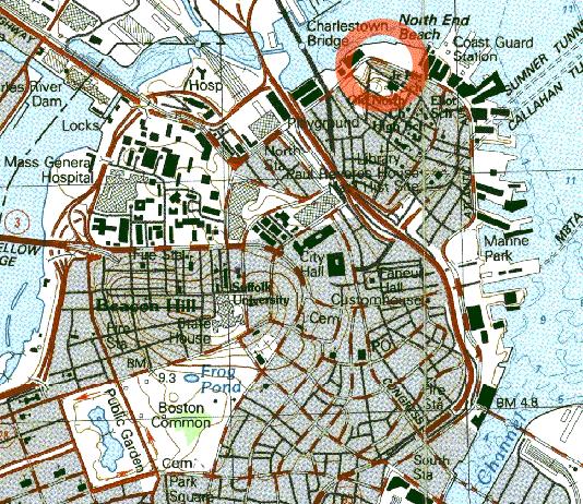 Boston molasses area map
