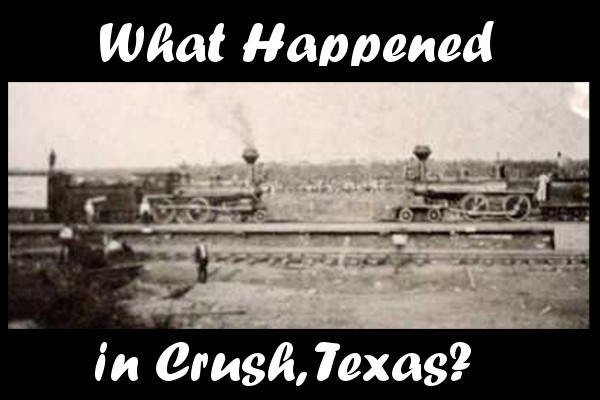 two trains crush,texas facing each other