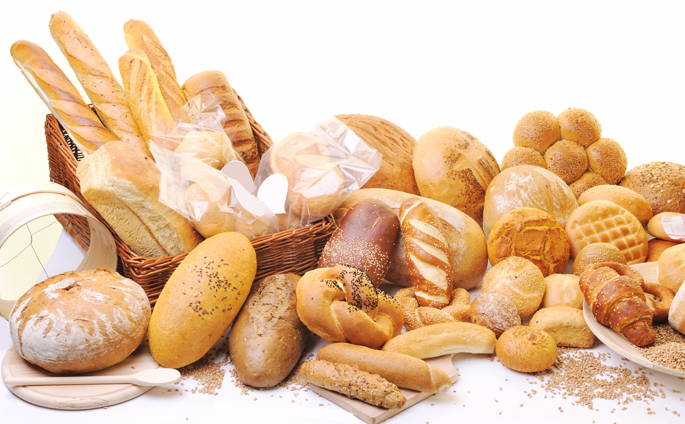 Various types of bread.