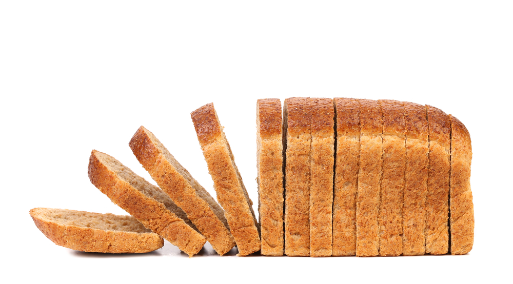 A sliced loaf of bread.