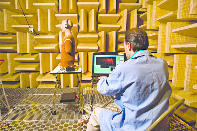 Example of an anechoic chamber, similar to the world's quietest place.